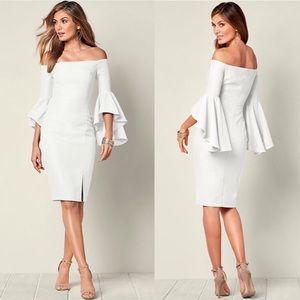 Venus White Sleeve Detail Dress